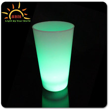 Plastic led flahsing bar series led pint glass wholesale for party decoration