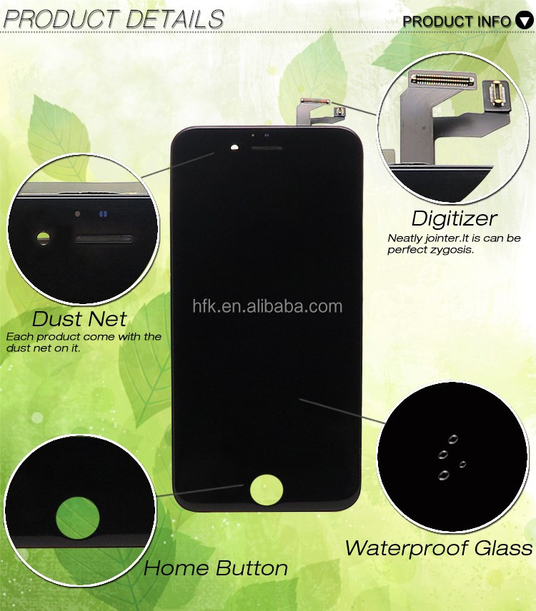 [joyking] Wholesale Front Assembly Lcd Display + Touch Screen Digitizer For Iphone 6s Black & White Official Color