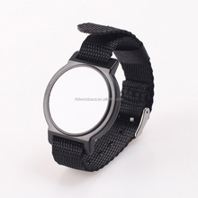 OEM design watch style 125khz rfid nylon wrist band for festivals
