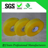 Acrylic Yellowish Transparent/clear bopp adhesive tape opp packing tape
