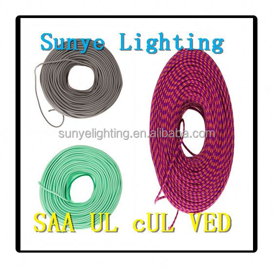 High quality colorful VDE SAA UL 2 core textile cable textile reed wire