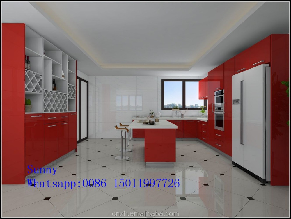 Foshan zhihua factory acrylic pantry kitchen cupboards for retail