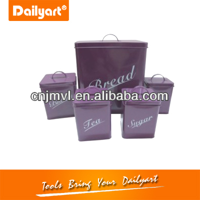 high quality household bread box and canister set