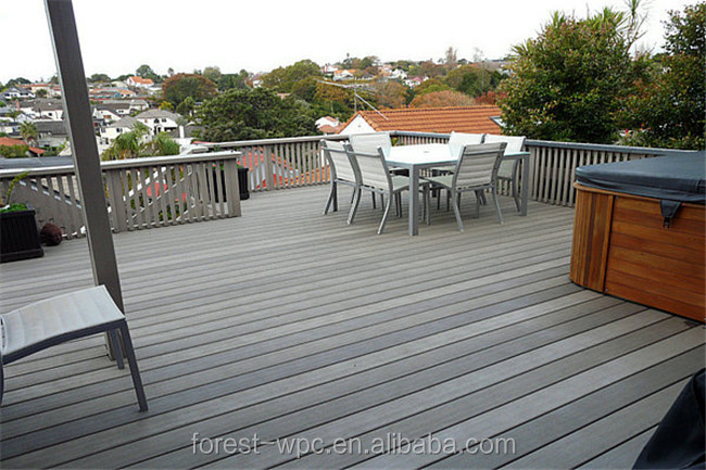 Eco Recycled cheap extruded tech wood plastic composite wpc decking