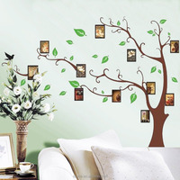 Syene Tree Art Wall Paper Fashion Removable Photo frame Family Tree 3D Vinyl Home Wall Sticker 3d Art Tree Wall Decals