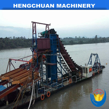 China widely used bucket gold mining dredge