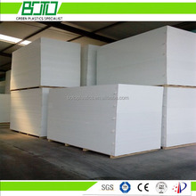 China alibaba supplier high quality hard white 18mm thickness pvc foam board for coach