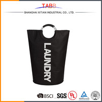 Polyester foldable laundry bag with handle