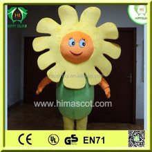 HI CE hot sale sunflower mascot costume,Party flower mascot costume, plant sunflower mascot