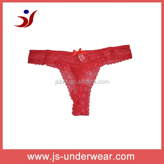 transparent thong red lace lingerie see thought sexy design new arrive made in China Shantou Gurao manufactory (accept OEM)