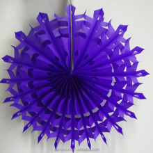 Hanging tissue paper fan crafts for wedding decoration
