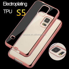 Electroplating TPU mobile phone case for samsung galaxy s5 case cover
