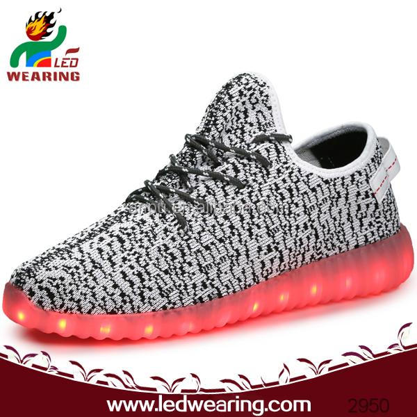 men FASHION yeezy boost 350 led shoes
