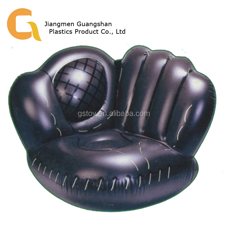 Sport giant advertising inflatable baseball glove sofa