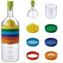 8 In 1 Multifunction Kitchen Gadgets Useful Bottle Professional Vegetable Gadget Separator Juicer Funnel Measuring Cup KC1467