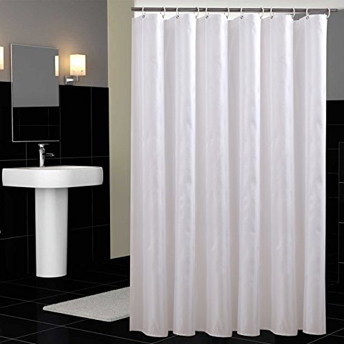 Hotel fabric shower curtain waterproof and mildew free bath white linen shower curtain