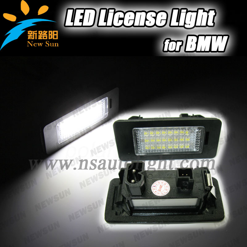 Hot sale Auto LED tail license plate light for BMW E39, E60, E90, E91, E92, E93 licence plate,24 smd 3528 led number plate light