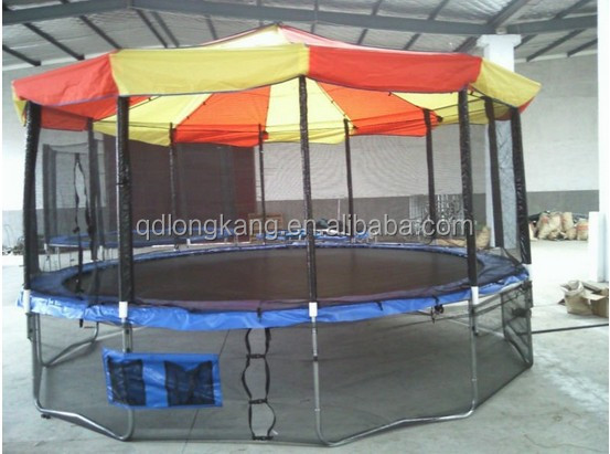 14FT 16FT Large Outdoor Tr&oline With Tent And Outside Safety Net Enclosure/4.2M 4.8 & 16ft large trampolines tent_Yuanwenjun.com