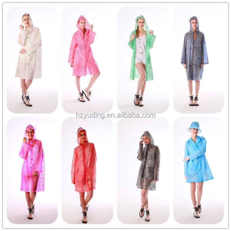 Adult Vinyl Hign quality rubber TPU Fashion Raincoat waterproof