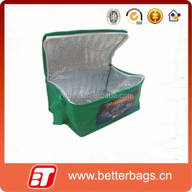 2015 factory price clear material non woven wine bottle cooler bags