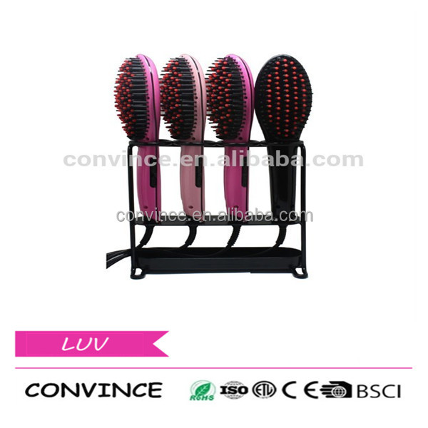 Hot CE/RoHS Certificate Hair Straightener Comb Electric Hair Straightening Irons and Brush For Personal Care