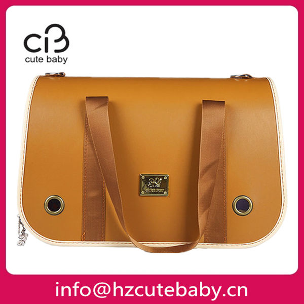 leather material luxury dog carrier