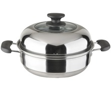 Multi-function convenient Stainless Steel Food Steamer Soup Pot Cooking Pot
