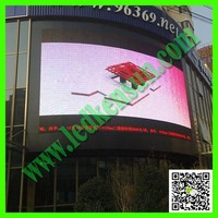 Digital 3D LED display double color led signs display screen flexible Arc 3D LED display