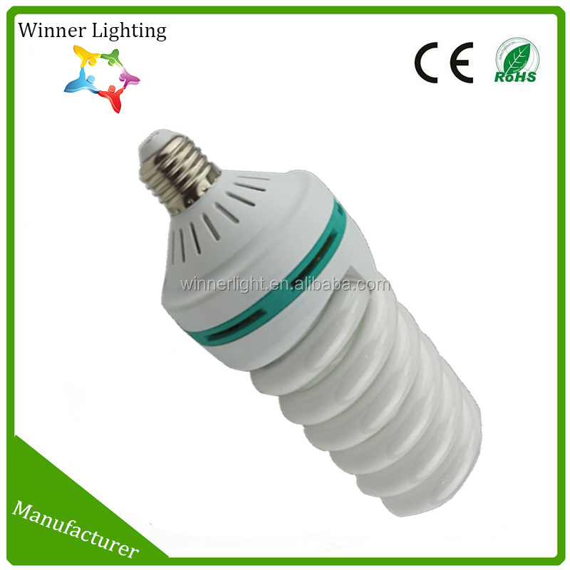 Spiral energy saving lamp 40w t5 circular lamp PP plastic covers fluorescent lamps