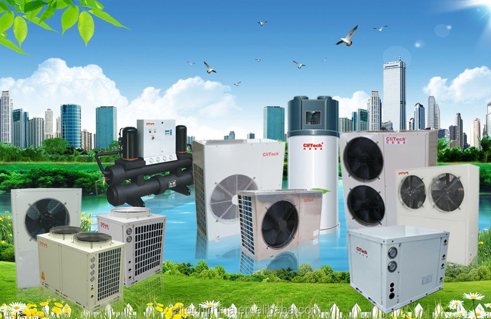 High qualiy standard clitech water/ground source heat pump with high COP CE approved CWM-20XB