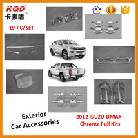 Best selling 3d chrome kits car headlamp rear light cover d-max 2012 for d-max car accessories
