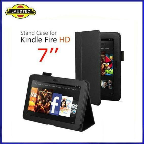 2013 Hot Sales Leather Folio Stand Case For Amazon Kindle Fire HD 7 INCH Tablet--Laudtec