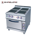 Commercial Kitchen Equipment Electric 4 Hot-plate Cooker With Oven