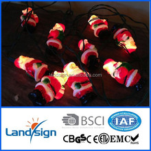 XLTD-134 Cixi Landsign solar santa string lights plastic CE/ROHS for holiday decoration christmas pearl light string