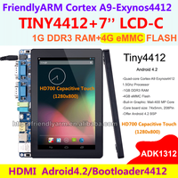 Exynos Quad core A9 TINY4412 ADK+ HD700 , 7 inch Capacitive Touch 1280*800 1G RAM 4G Flash FriendlyARM Board Android 4.2