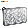 Aluminum housing offroad square led working light bar