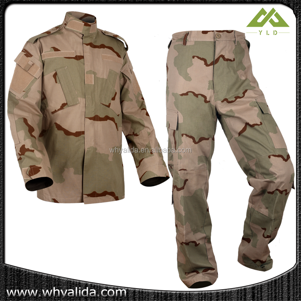 china wholesale men ripstop camouflage military clothing soft