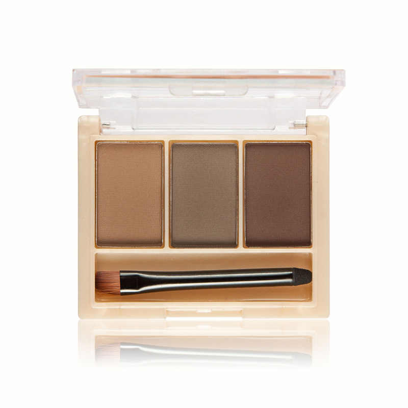 Make Up Eyebrow Powder Palette 3 color Eyes Makeup Brow Pencil Brown Eyebrow Kit Crayon Sourcils Waterproof pressed brow powder