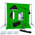 10FT X 20FT Photo Studio Muslin Green Cotton Screen Backgrounds Backdrop Photography Kit