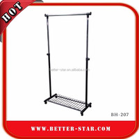 Customize clothing store design wall mounted garment rack for Fashion Shops