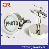 Cuff links personalise high polish copper photo cufflink