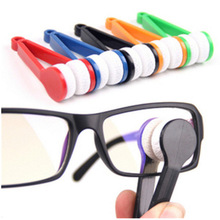 ZHILING clean Cloth Glasses Cleaning Clip Microfibre Spectacles Cleaner for wholesales