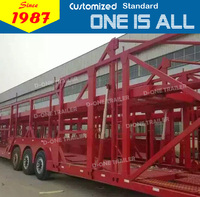 Chinese best quality hauler trailer 3 axles car hauler trailer car carrier trailer