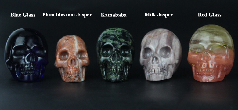 Wholesale Amethyst quartz crystal skull for sale, natural carved crystal skull for decor