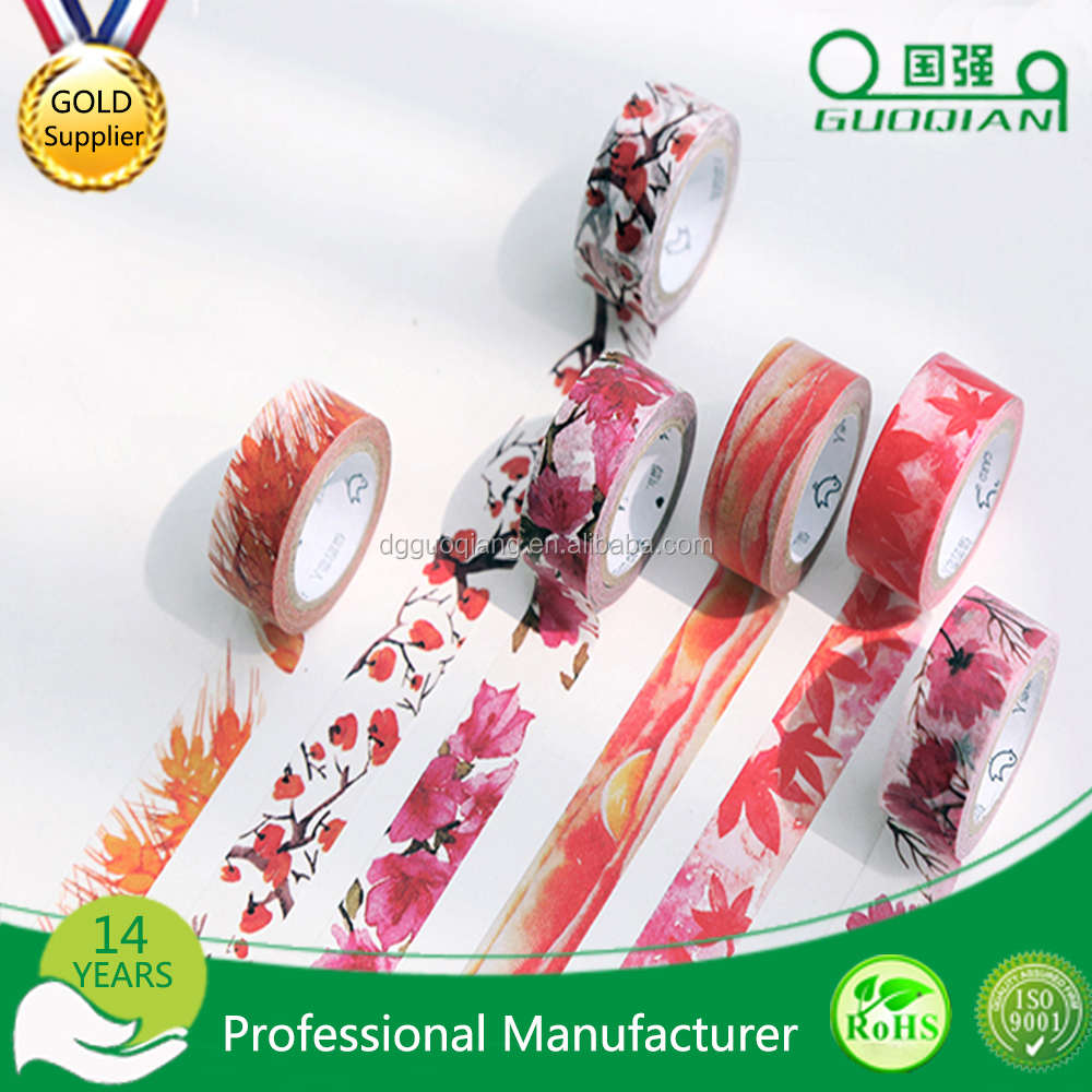 wholesale Supply Factory Price wedding flower making diy custom floral washy tape / wholesale wedding supplies