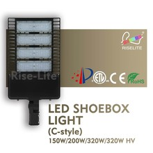 ETL dlc listed photo sensor 150W 200W 300W led shoebox parking lot Parking lot light led street light driver