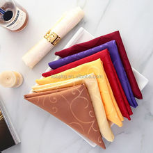 Good quality custom hotel napkin cotton standard cloth napkin size