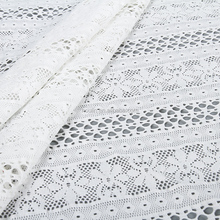 S2708 Designer new stylish nylon spandex white floral swiss voile lace fabric in switzerland