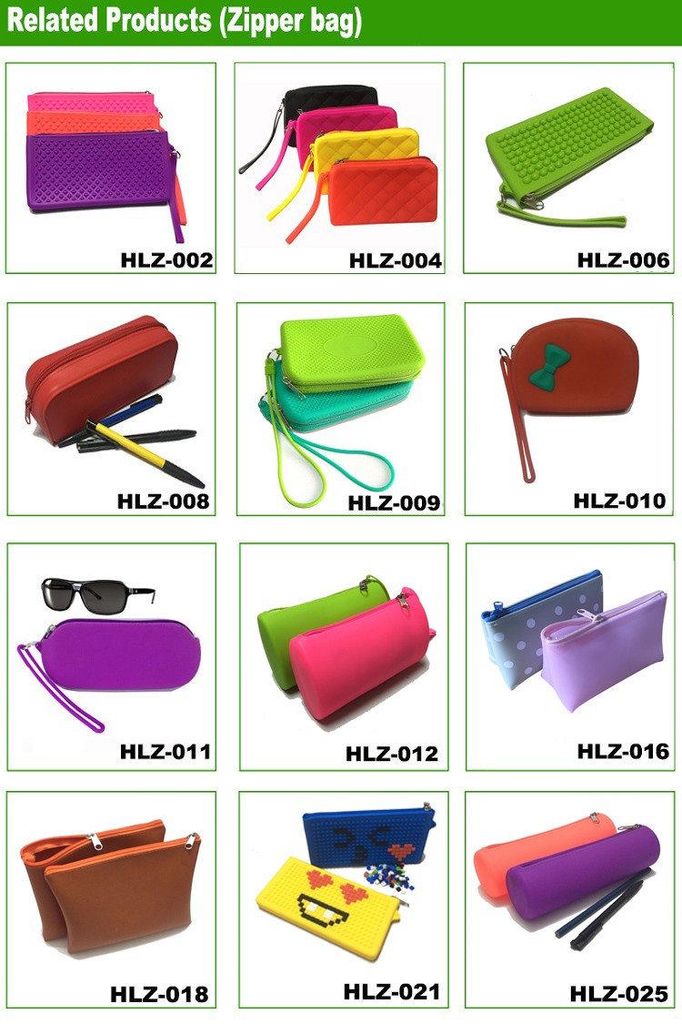 Fashion Pencil Case Office&School Supplier Kids Lovely Cute Silicon Multi-functional Stationery Pencil Pen Bag