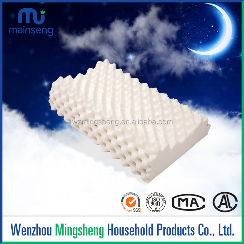 Custom Anti Snore Head Massage Concave Wolf teeth Latex Hotel Bed Pillow